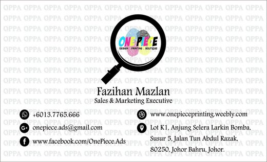 One piece printing ads online printing company in johor bahru picture business card leaflet reheart Image collections